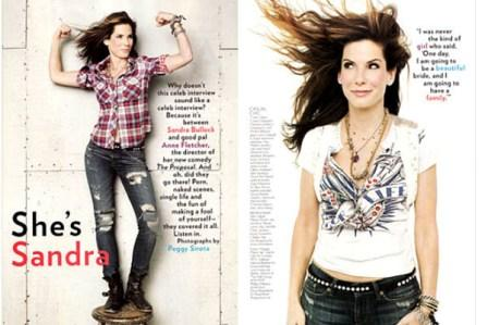 Najgori celebrity portret: Sandra Bullock za Glamour – Žena koja izgleda poput Sandre Bullock zaslužuje bolje od teksaškog looka.