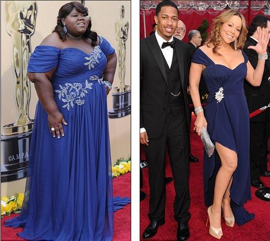 Gabourey Sidibe i Mariah Carey