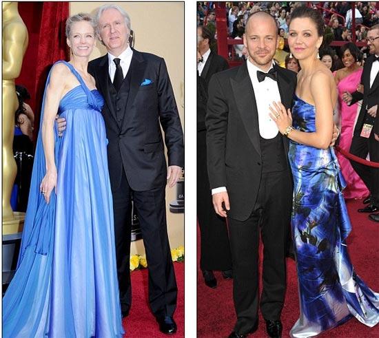 James Cameron i Suzy Amis, lijevo, Peter Sarsgaard i Maggie Gyllenhaal (desno)