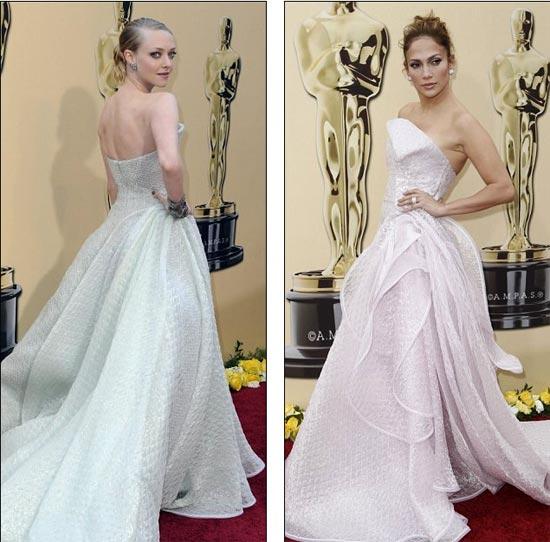 Amanda Seyfried i Jennifer Lopez u nevjerojatno sličnim haljinama Armani Privé