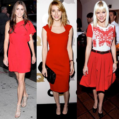 Crvena haljina za doček Nove godine