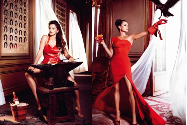 Penelope Cruz za Campari kalendar