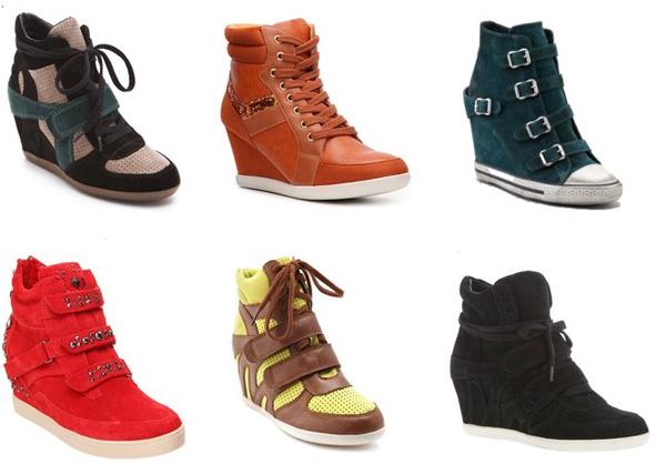 Cipele za jesen – tenisice s visokom potpeticom