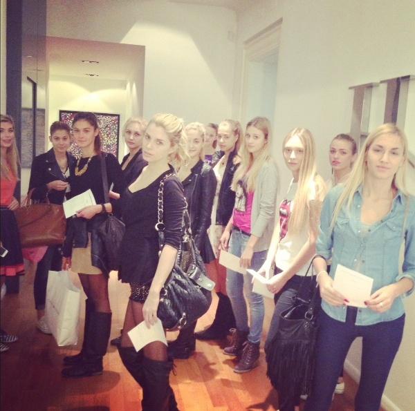 Lana Biondić na castingu za reviju S.dressa na Dreft Fashion Weeku Zagreb birala je plavuše