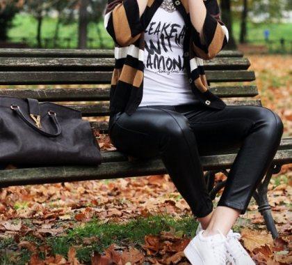 Moderne kožne hlače