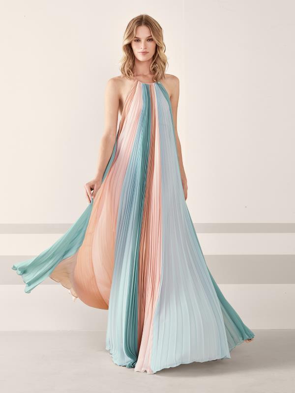 Aqua Maxi Dress