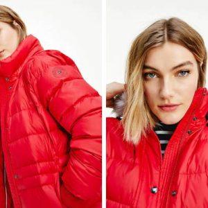 Crvene zimske jakne za zimu 2021.